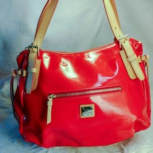 Authentic Large red Dooney & Bourke purse handbag